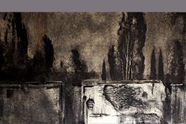 Monotype - Arbres et nuages - Gerard Jan
