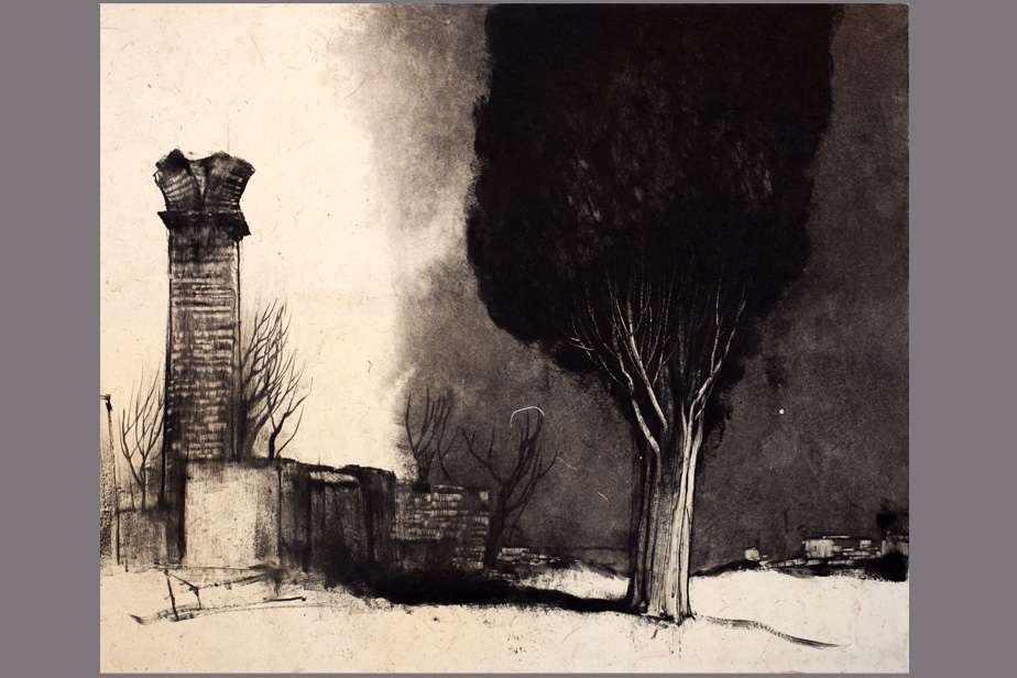 Monotype - Chapelle aux Baux - Gerard Jan