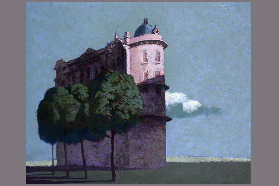 Monotype - Temple à Delphes - Gerard Jan