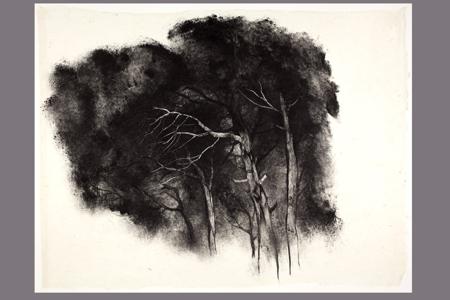 Monotype - La tour, Belchite - Gerard Jan