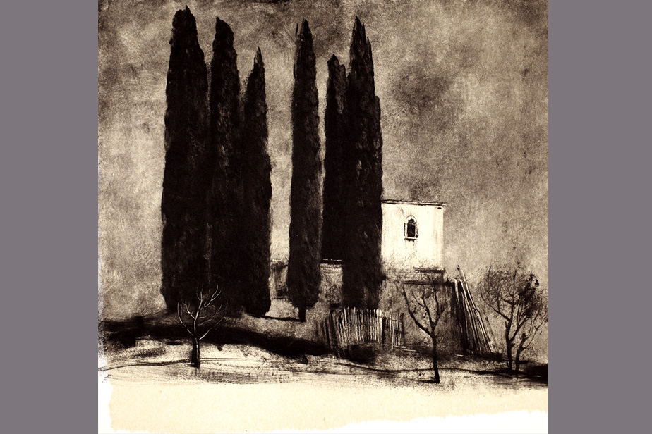 Monotype - Bosquet, nuage - Gerard Jan